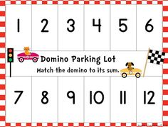 FREE Domino Parking Lot and More Math Workstation Freebies!