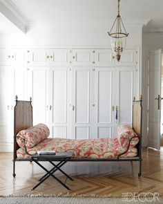 daybed . lighting . herrera baez's madrid pad, antiques and flea-market finds combine with bargains from shops like zara home and habitat