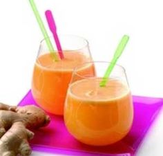 Pineapple, Apple and Ginger Juice recipe made using a juicer