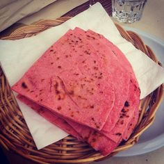 Pink piadina for La Notte Rosa - Instagram by @scottishemma123
