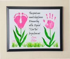 Hand & Footprint FLOWERS Wall Plaque by SpecialtyCreations4U