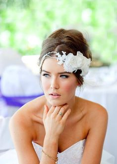 Headpiece & Gown by ALEKS BRIDAL collection, photography by Marion Jonkers Photography
