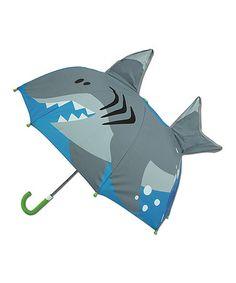 $9.99 marked down from $15.90! Shark Pop-Up Umbrella #shark #zulily #zulilyfinds