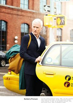 Mad Men star John Slattery poses for ESQUIRE Magazine UK photographed by Neil Gavin with elegant styling from Eric Nicholson at Atelier Management. John Slattery, Beau Brummell, Male Magazine, Esquire, Mad Men, Men Dress, City Photo, What To Wear, Menswear