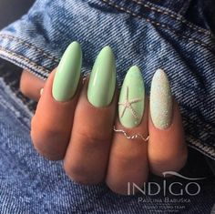 54 Simple Spring Nail Designs for Short Nails and Long Nails - Spring Trends Cute Acrylic Nails, Cute Nails, Pretty Nails, Classy Nails, Simple Nails, Cute Spring Nails, Spring Nail Colors, Short Nail Designs, Nail Designs Spring