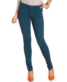 Else Jeans Skinny Colored-Denim Jeans - Womens - Macy's