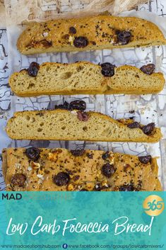 Mad Creations Low Carb Focaccia is just like the real thing only better! Mad Creations Low Carb Focaccia is just like the real thing only better! Low Carb Lunch, Low Carb Dinner Recipes, Low Carb Desserts, Keto Recipes, Snack Recipes, Atkins Recipes, Bread Recipes, Lowest Carb Bread Recipe, Low Carb Bread
