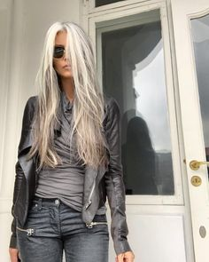 hair inspiration I expected sunshine today, but it turned out grey. Here I am to match the colours of Mordor in my oldest outfit, including the Long Gray Hair, Grey Wig, Silver Grey Hair, Gray Hair Women, Grey Hair Streak, Long Hair Older Women, Grey Hair Over 50, Grey Hair Roots, Grey Blonde Hair