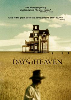 """Days of Heaven (1978), by Terrence Malick - still """"the most gorgeously photographed film ever made"""" - like a dream.  Gere and Shepherd in the glory of their youth."""