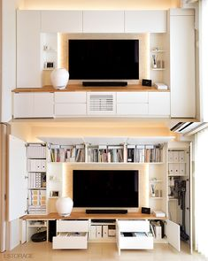 - Best ideas for decoration and makeup - Living Room Built Ins, Living Room Bookcase, Living Room Wall Units, Living Room Decor Cozy, Living Room Designs, Living Pequeños, Living Place, Design My Kitchen, Cupboard Design