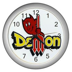 dodge demon logo Wall Clock #fashion #home #garden #homedcor #clocks (ebay link)