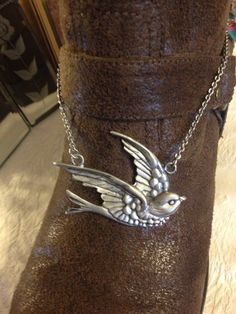 Metal Sparrow boot jewelry boot anklet by LeonaIrenes on Etsy, $20.00