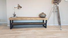 TV-meubel Hout & Staal naar wens samen te stellen - Firma Hout & Staal Maatmeubelen