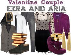 Inspired by Ian Harding and Lucy Hale as Ezra Fitz and Aria Montgomery on Pretty Little Liars.