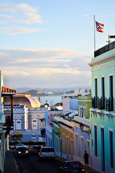 San Juan, Puerto Rico...the buildings match the landscape