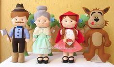 Feltrolândia : Decoração Festa Infantil - Chapeuzinho Vermelho