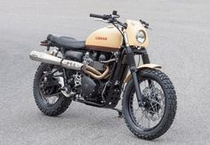 "Triumph Scrambler custom: ""T860 Six Days."""