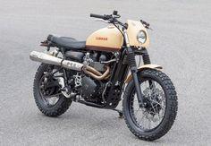 "Triumph Scrambler custom: ""T860 Six Days."""