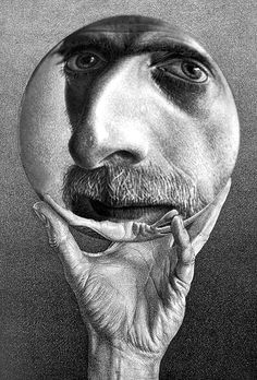 Escher. Self portrait.