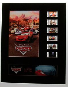 CARS Disney Pixar CARS 2006 Owen Wilson Film Cell Display by RescuedHollywood