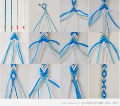 tutorial-paso-a-paso-como-hacer-pulsera-hilo-macrame-rombos-zigzag.png (500×441) on We Heart It