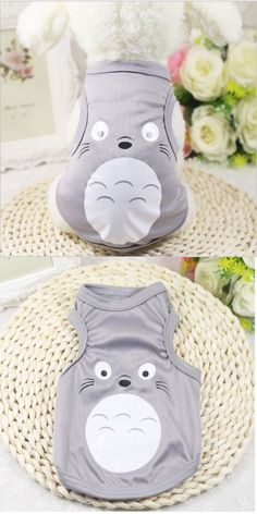 Cute Animals And Animals Stuff: Details About Totoro Cute Summer Pet Dog Clothes Shirt Vest Cat Costume Size -> BUY IT NOW ONLY: $1.99 on eBay!