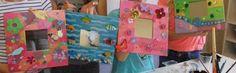 Spiegels verven en versieren  Via FB, site van: Anneke Zuidema Oktobermaand Kindermaand 2014