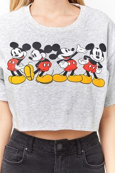 Product Name:Mickey Mouse Graphic Tee, Category:top_blouses, Cute Disney Outfits, Disney Themed Outfits, Cute Casual Outfits, Stylish Outfits, Summer Outfits, Fashion Outfits, Mickey Mouse Outfit, Mickey Shirt, Bershka Outfit