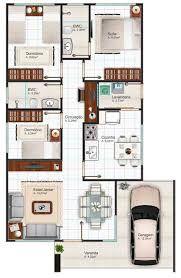 Resultado de imagem para projeto arquitetonico de casas planta baixa 3 quartos