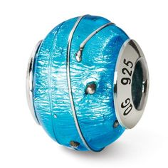 Italian Sterling Reflections Blue/ Murano Bead