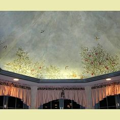 Cutting Edge Stencils - Elm Leaves Stencil...love this idea for the attic ceiling!