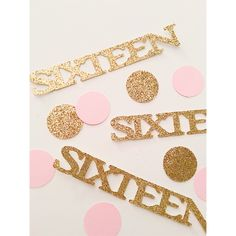 Deluxe Gold and Pink 16th Birthday confetti, confetti, glitter confetti, party decorations, 1st birthday, Sweet 16 by PartyPerfectBoutique on Etsy https://www.etsy.com/listing/241306750/deluxe-gold-and-pink-16th-birthday