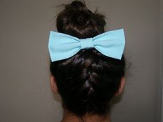 Aqua Hair Bow by LittleBowElise