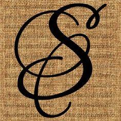 Monogram Initial Letter S Letter Clip Art by InstantPrintable