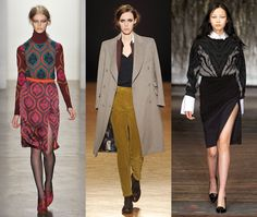 fashion week fall 2012 highlights: I want to try the sweater combo to the right...