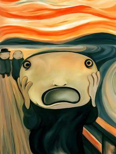 Kunst Bilder ideen - i like this spinoff - Beste Art Pins Scream Parody, Scream Art, Edvard Munch, Le Cri, Expressionist Artists, Funny Art, Modern Art, Cool Art, Art Drawings