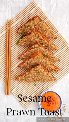 Prawn Toast Recipe, Shrimp Toast, Chinese Fakeaway, Chinese Appetizers, Easy Chinese Recipes, Sweet Chilli Sauce, Flavored Oils, Piece Of Bread, Fried Vegetables