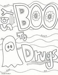 Red Ribbon Week Coloring Pages and Printables - Classroom Doodles Halloween Classroom Door, Halloween Math, Classroom Crafts, Classroom Organization, Free Activities, Kindergarten Activities, Classroom Activities, Counseling Activities, Preschool