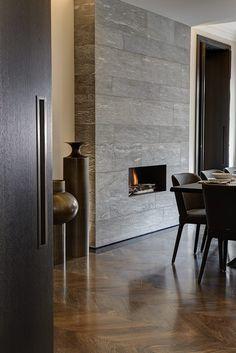 foorni.pl | Luksusowy londyński apartament, kominek w jadalni
