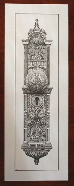 Salt Lake City Temple Doorknob Pen & Ink Print (from Maskery & Lund - LDS Art & Educational Items)