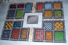 A custom Heroquest board, made with Hirst Arts blocks.  It's beautiful.