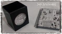Jupi Artes: Kit para Escritório: Porta lápis + Porta anotações...