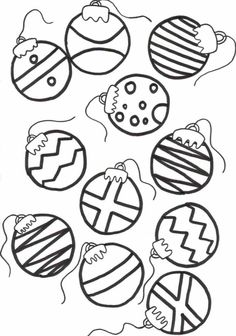 christmas coloring pages for kids ornaments