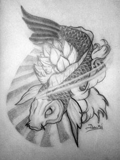 Carpa Koi, diseño para tatuaje