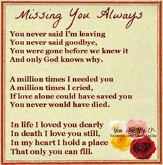 Missing you so