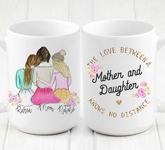 Personalized mug for Mom and Daughter – Presents For Mom Romantic Gifts For Him, Unique Gifts For Mom, Gifts For Your Mom, Gifts In A Mug, Mom Gifts, Gifts For Ladies, Diy Bday Gifts For Mom, Diy Christmas Gifts For Mom From Daughter, Christmas Ideas For Mom