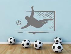 Kids Blue Football Wallpaper Border Carousel Soccer Children Black Off White x 3