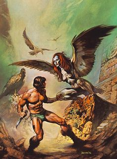 Harpies - art by Boris Vallejo #Mythology