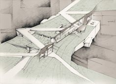 futureproofdesigns:   Hand Drawings for Tagus Platform, Lisbon  Adelina Popescu 2010