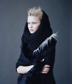 Knit indigo